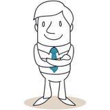 Homem de negócios seguro com braços cruzados Imagem de Stock Royalty Free