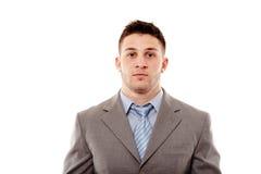 Homem de negócios seguro novo no estúdio Imagem de Stock Royalty Free