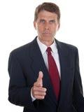 Homem de negócios severo Fotografia de Stock Royalty Free