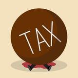 Homem de negócios sob o imposto pesado Fotografia de Stock Royalty Free