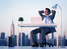 Homem de negócios Success Freedom Concept do negócio da cidade Imagem de Stock Royalty Free