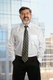 Homem de negócios superior With Beard Foto de Stock