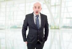 Homem de negócios surpreendido Imagem de Stock