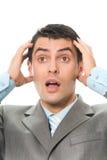 Homem de negócios surpreendido imagem de stock royalty free