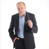 Homem de negócios talkative assertivo Imagem de Stock Royalty Free