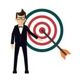 Homem de negócios Target Imagem de Stock Royalty Free