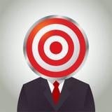 Homem de negócios With Target Circle como sua cabeça Foto de Stock Royalty Free
