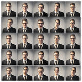 Homem de negócios temperamental imagens de stock royalty free