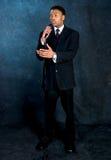 Homem de negócios - tempo do discurso Fotos de Stock Royalty Free