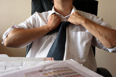 Homem de negócios Tired Imagem de Stock