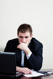 Homem de negócios triste Fotos de Stock Royalty Free