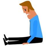 Homem de negócios triste ilustração stock