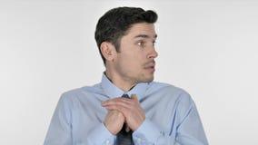 Homem de negócios triste confuso e assustado vídeos de arquivo