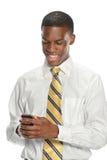 Homem de negócios Using Cell Phone Fotografia de Stock