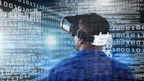 Homem de negócios Using VR filme