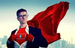 Homem de negócios Vote Power Concept do super-herói imagem de stock royalty free