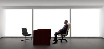 Homem de negócios Waiting For Client ou reunião Imagem de Stock