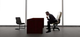 Homem de negócios Waiting For Client ou reunião Fotografia de Stock