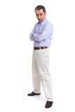 Homem de negócio cheio do retrato do comprimento Fotografia de Stock Royalty Free