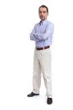 Homem de negócio cheio do retrato do comprimento Foto de Stock Royalty Free