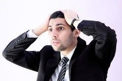 Homem de negócio choc Imagens de Stock Royalty Free