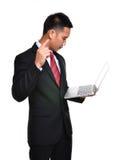 Homem de negócio da preocupação isolado Fotos de Stock
