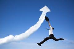 Homem de negócio de salto Fotos de Stock