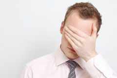 Homem de negócio deprimido Foto de Stock