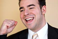 Homem de negócio feliz Fotografia de Stock Royalty Free