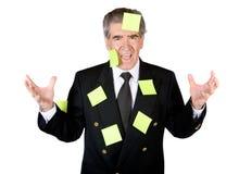 Homem de negócio ocupado Imagem de Stock Royalty Free