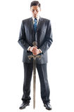 Homem de negócios agressivo Imagem de Stock Royalty Free