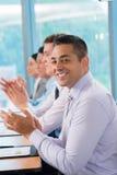 Homem de negócios alegre Fotografia de Stock Royalty Free