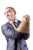 Homem de negócios amarrado acima Fotografia de Stock Royalty Free