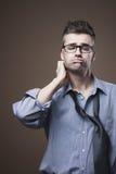 Homem de negócios bagunçado confuso Foto de Stock Royalty Free