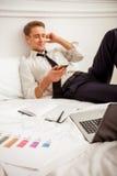 Homem de negócios bem sucedido novo Fotografia de Stock Royalty Free