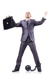 Homem de negócios com grilhões Imagens de Stock