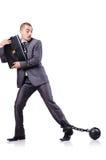 Homem de negócios com grilhões Fotos de Stock Royalty Free