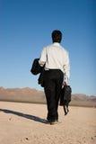Homem de negócios com seu portátil Fotos de Stock Royalty Free