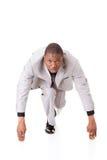 Homem de negócios considerável pronto para começar. Foto de Stock Royalty Free