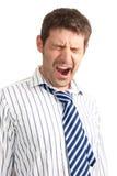 Homem de negócios de bocejo Imagens de Stock