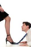 Homem de negócios de dominação da mulher de negócios Fotos de Stock Royalty Free