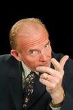 Homem de negócios de exigência Fotos de Stock Royalty Free