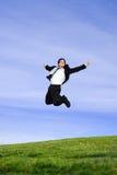 Homem de negócios de salto Imagem de Stock Royalty Free