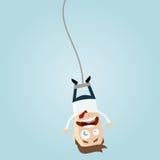 Homem de negócios de salto do tirante com mola Imagem de Stock Royalty Free