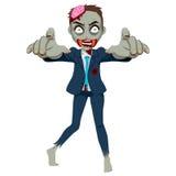 Homem de negócios do zombi Fotografia de Stock Royalty Free