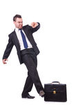 Homem de negócios engraçado Fotos de Stock