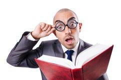 Homem de negócios engraçado do lerdo Imagens de Stock