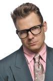 Homem de negócios excêntrico Fotografia de Stock
