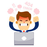 Homem de negócios Feeling Angry With seu portátil Imagem de Stock