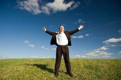Homem de negócios feliz Fotografia de Stock Royalty Free